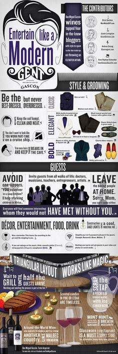 "Infographic: ""Entertain Like a Modern Gent"" - Electrogent"