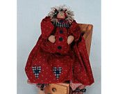 """Katie's Homespun Stitches KHS 17 - Stuffed Toy - Any day now 19"""" pregnant Doll"""
