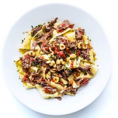Pappardelle with Pork Sugo and Hazelnuts Recipe, Bon Appetit, Pasta