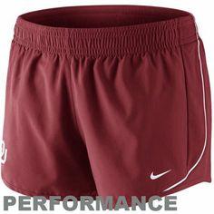 Nike Oklahoma Sooners Women's 10K Performance Shorts - Crimson