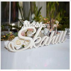 Decoration Custom MR & MRS +Surname – Chofos Shop