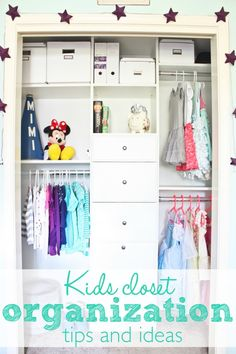 Kids Closet Organization {REVEAL!}