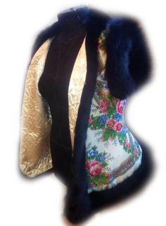 Мастер-класс: жилет из платка, отороченный натуральным мехом