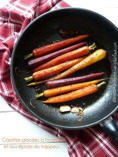 Carottes glacées à l'orange et aux épices du trappeur