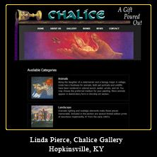 My Web Design Clients: Chalice Gallery. Hopkinsville, Kentucky. www.chalicegallery.com/