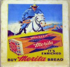 Lone Ranger Coaster and Merita Bread by TheCoasterMan on Etsy, $8.00