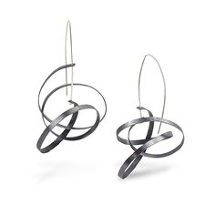 Scribble Earrings by Melissa Finelli: Silver Earrings available at www.artfulhome.com