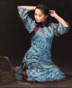 Jiang Changyi (江昌邑)  — A Girl with Bun (1000×1226)