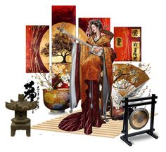 """The Geisha's Song"" by dragunceol ❤ liked on Polyvore featuring art"