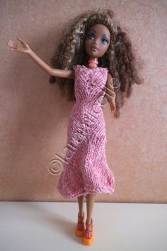 Free barbie tutorial: sheath dress and flared asymmetrical hemline