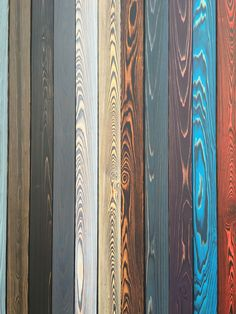 SHOU SUGI BAN colors charred wood: