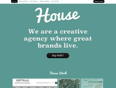 Home Page Design for http://www.housecreative.co.uk/