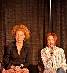 Alex Kingston and Karen Gillan, Doctor Who panel (MegaCon - April 12, 2015) [x]