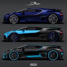 Bugatti Divo würde in fast jeder dieser Lackierungen spektakulär aussehen - Бугатти – мечта! Exotic Sports Cars, Cool Sports Cars, Super Sport Cars, Cool Cars, Bugatti Cars, Lamborghini Cars, Lamborghini Gallardo, Bugatti Chiron, Best Luxury Cars