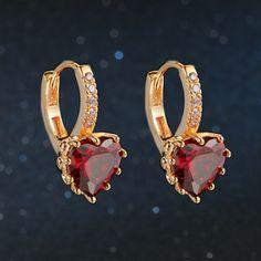 Klasický design Rose Gold Barva Velikost velký polštář krychlových zirkonem Snubní Náušnice pro ženy DFE818