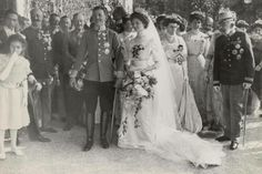 Karl I of Austria and Zita Oct 21, 1911 wedding day