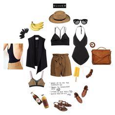 """cinnamon summer"" by minyi-reka ❤ liked on Polyvore"