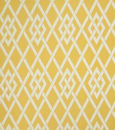 Upholstery Fabric-Eaton Square Sherry   Gold Lattice