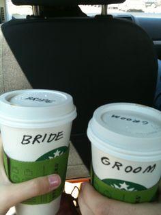 Wedding day coffee