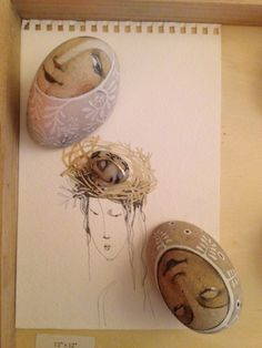 goldeneggstudio: rock painting painted stone