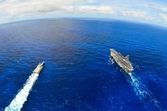 USS INDEPENDENCE (LCS 2) on top of the world — at RIMPAC 2014