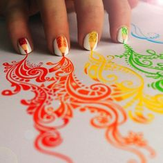 nail art designs pencils
