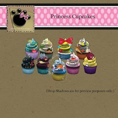 """Chubby Chihuahua-Designs Facebook Incentive  """"Princess"""" Cupcakes"""
