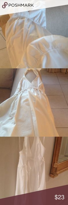 Designer dress Romantic white dress you can accessorize up or down!  Lined bubble hem halter side zip   Machine wash BCBGMaxAzria Dresses Mini