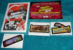 TOPPS WACKY PACKAGES POSTCARDS SET HALLOWEEN 2013 SKETCH CARD SIGNED NUMBERED