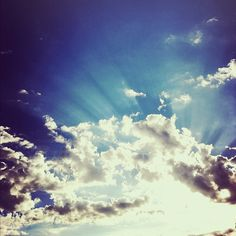 """The sky says, """"be amazing."""""""