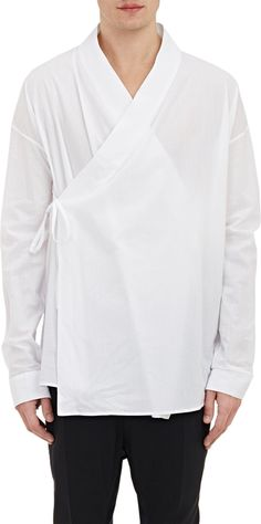 Wrap-Front Kimono SHIRT, Haider ACKERMANN