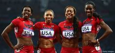 U.S. women's 4x400-meter relay team won gold. DeeDee Trotter  established an early lead then passed to Allyson Felix who expanded the gap, and by the time Francena McCorory got the baton, the U.S. was so far ahead (nearly three seconds) that the pressure was off. Sanya Richards-Ross anchored the team to triumph in a season's best 3 minutes 16.87 seconds – just 1.7 seconds off the Soviet record set at the Seoul 1988 Olympic Games. Russia, the silver-medalist, finished 3.36 seconds behind the…