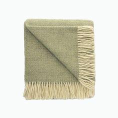 Small Illusion Wool Blanket in Green and Grey - James & May – James & May