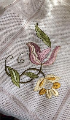 Border Embroidery Designs, Floral Embroidery Patterns, Embroidery Letters, Embroidery Works, Crewel Embroidery, Beaded Embroidery, Cross Stitch Embroidery, Machine Embroidery Designs, Button Hole Stitch