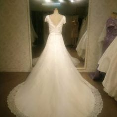 Style #97201 - V back Plus Size Wedding Gown - Darius Cordell
