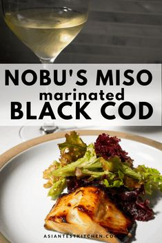 Miso marinated cod was made famous by Chef Nobu. This recipe is nearly foolproo. - Miso marinated cod was made famous by Chef Nobu. This recipe is nearly foolproof but just requires - Baked Black Cod Recipe, Asian Cod Recipe, Miso Black Cod Recipe, Miso Recipe, Black Fish Recipe, Miso Cod Recipe Nobu, Fish Recipe Baked, Nobu Recipe, Baked Fish