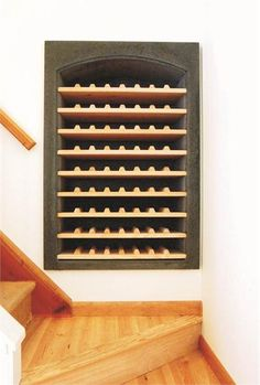 Concrete Wine Vault from Betonas, within staircase