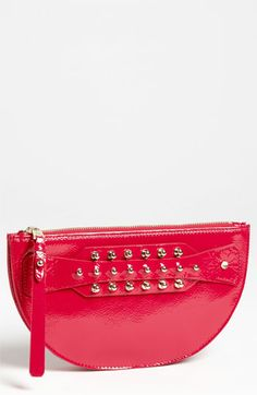McQ by Alexander McQueen 'Large' Patent Leather Coin Clutch available at #Nordstrom