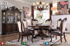 Meja Makan Bundar Jati Minimalis Natural Luxury Mebel Jepara BT-0803