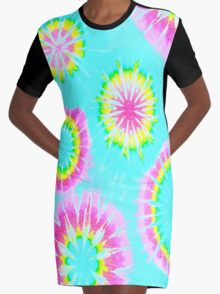 Tie Dye 2 Graphic T-Shirt Dress