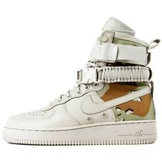 """Nike Men's Special Force Air Force 1 """"Camo"""" [864024-202] ($180) ❤ liked on Polyvore featuring men's fashion"""