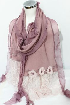 Pink scarf pink lace shawl bride shawl pink by Nazcolleccolors