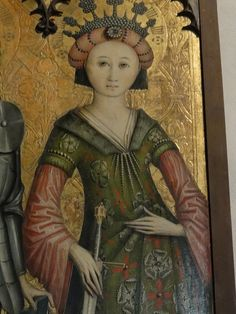 Catherine, Swiss, 1470 at Bavarian National Museum in Munich. Catherine, Swiss, 1470 at Bavarian National Museum in Munich. European History, Ancient History, Art History, Medieval Clothing, Medieval Art, Italian Renaissance, Renaissance Art, Historical Art, Historical Clothing