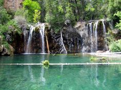 Hanging Lake in Colorado. I was driving cross-country with my dad and a random biker couple at a rest stop recommended stopping here. A bit of a hike up a mountain, but the destination is worth it. Breathtaking.