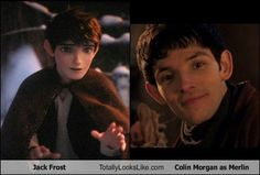 Jack Frost looks like Colin Morgan as Merlin and it's really freaking me out