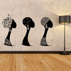 Mujer africana calcomanía de pared african mujer perfil de | Etsy African Wall Art, African Art Paintings, African Prints, African Fabric, African Interior, African Home Decor, Wall Stickers, Wall Decals, Wall Vinyl