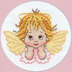 Cross stitch pattern Little Angel Instant download