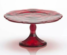Red Cake Stand - Inverted Thistle