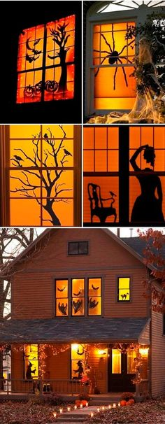 Hallowen Party Halloween Window Decor If you want something that really stands out this Hallowe. , Halloween Window Decor If you want something that really stands out this Hallowe. Halloween Window Decor If you want something that really stands ou. Casa Halloween, Soirée Halloween, Adornos Halloween, Manualidades Halloween, Outdoor Halloween, Holidays Halloween, Terrifying Halloween, Halloween Designs, Halloween Tricks