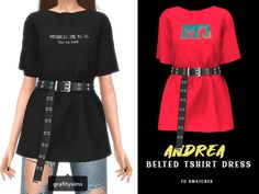 Andrea Belted Tshirt… | Sims 4 Updates -♦- Sims 4 Finds & Sims 4 Must Haves -♦-